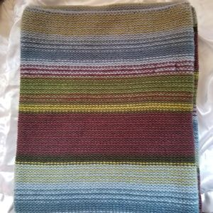 Gap 100% Lamb's Wool Extra Thick Striped Men Scarf